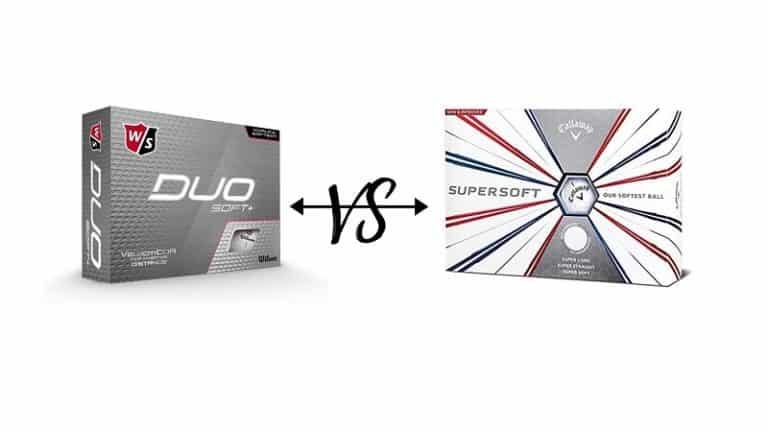 Wilson Duo vs Callaway Supersoft golf balls